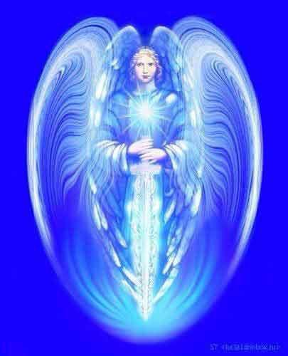 Angelo blu della pace