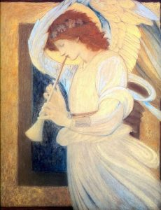 burnejones_an_angel_playing_flageolet_18 by ErgSap, on Flickr